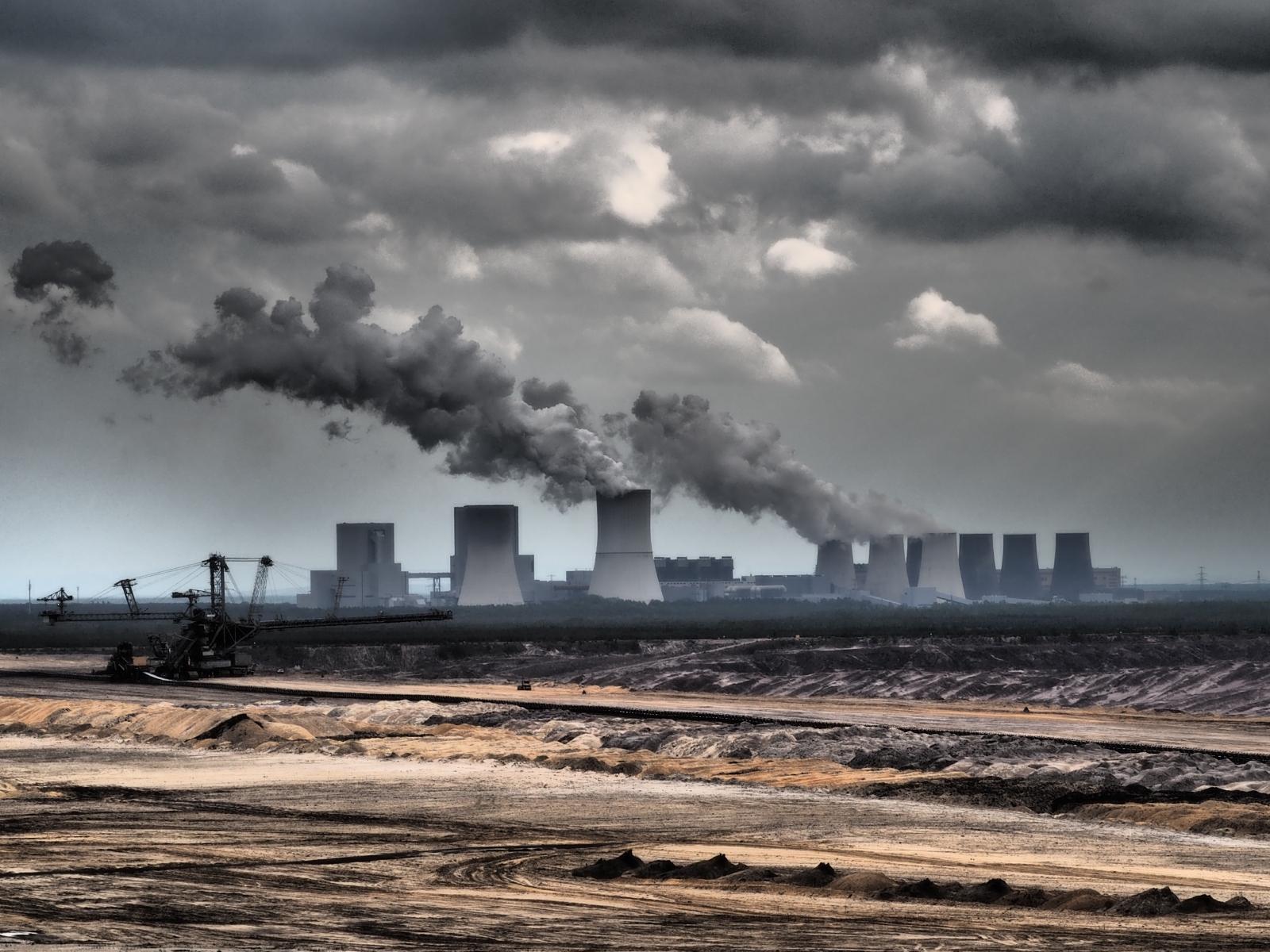 Braunkohlekraftwerk in der Lausitz